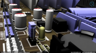 System CPU motherboard viral chaudhari 3d work cg image 01