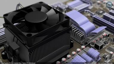 System CPU motherboard viral chaudhari 3d work cg image 03