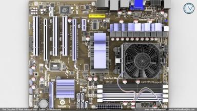 System CPU motherboard viral chaudhari 3d work cg image 04