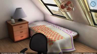 the artist's room viral chaudhari 3d work no02