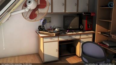 the artist's room viral chaudhari 3d work no03