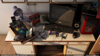 the artist's room viral chaudhari 3d work no04